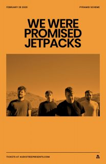 Event poster for We Were Promised Jetpacks w/ Slaughter Beach, Dog