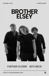 Event poster for Brother Elsey w/ Further Closer + Seth Beck