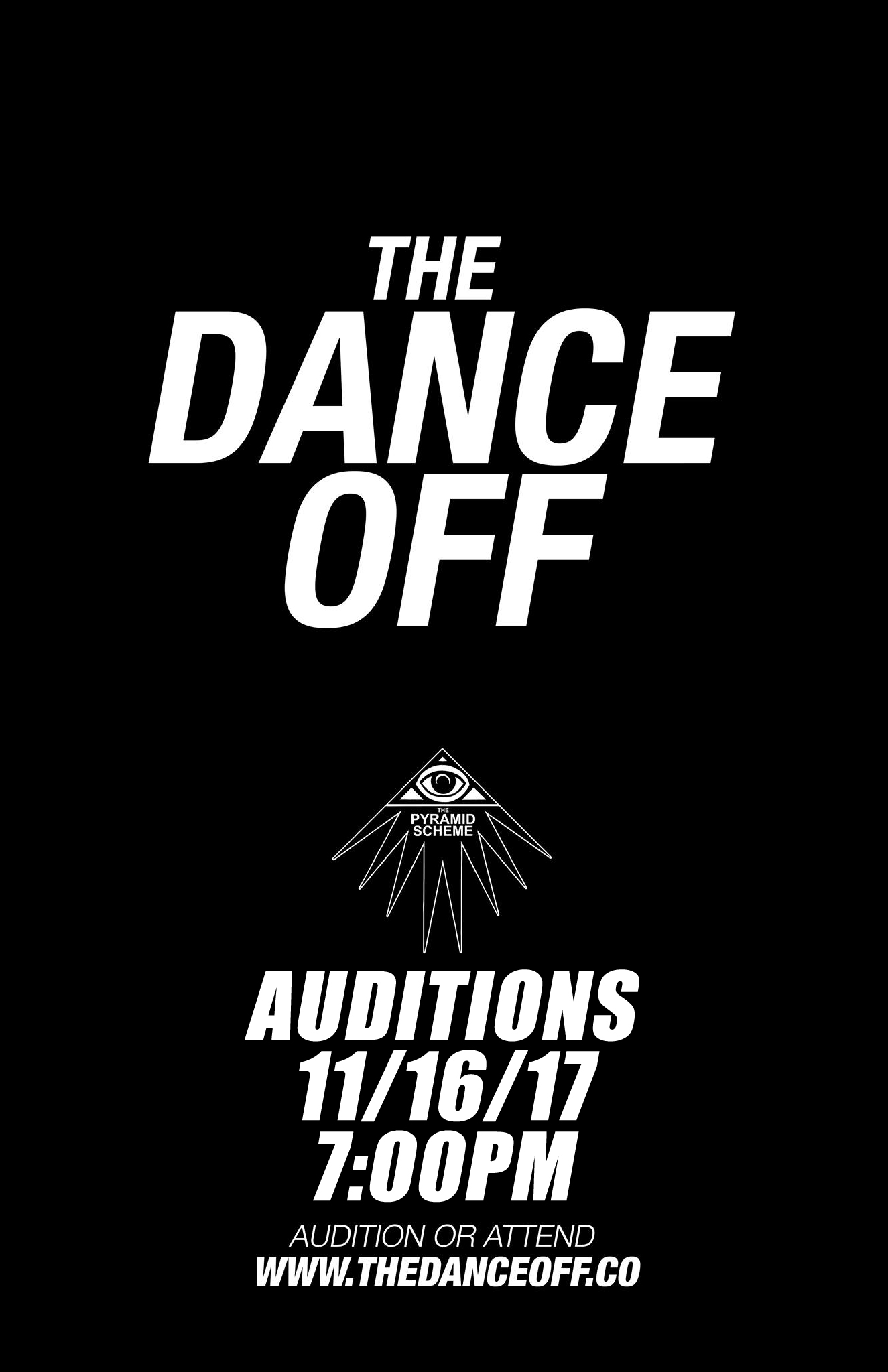 Auditions The Dance Off Pyramid Scheme