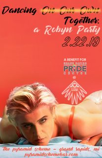 Event poster for A Robyn Party: Dancing On Our Own (Together)
