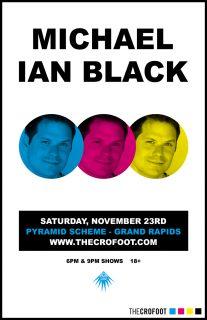 Event poster for Michael Ian Black: 2 shows! w/ Nardos Osterhart