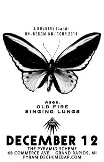 Event poster for J. Robbins (band) w/ Old Fire & Singing Lungs