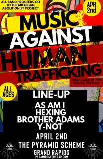 Event poster for POSTPONED: Music Against Human Trafficking