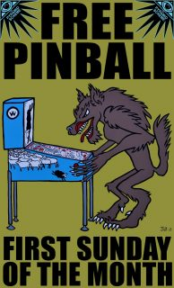 Event poster for FREE PINBALL DAY!