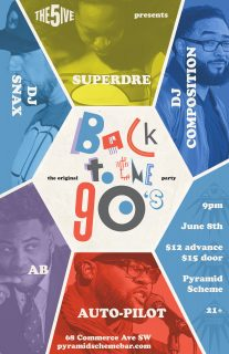 Event poster for The Original Back to the 90s Party
