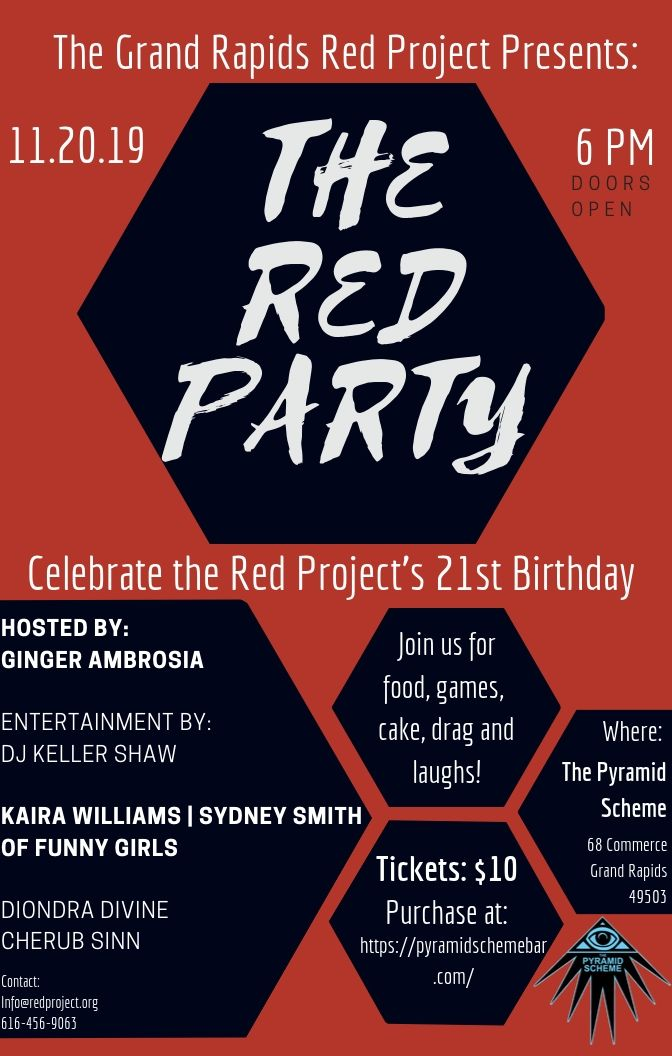 The Red Party Presented By The Grand Rapids Red Project The Pyramid Scheme The Pyramid Scheme