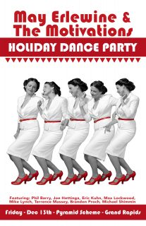 Event poster for May Erlewine & The Motivations: Holiday Dance Party