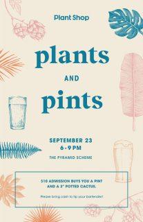 Event poster for Plants & Pints v. 2